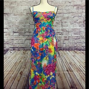 Forever 21 Floral Tropical Maxi Dress